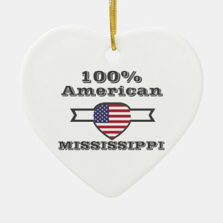 100% American, Mississippi Ceramic Heart Decoration