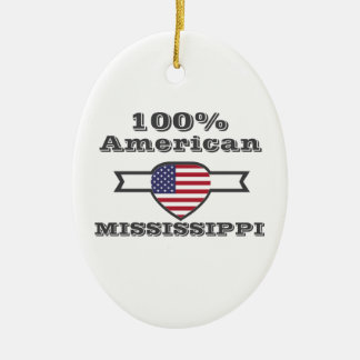100% American, Mississippi Ceramic Oval Decoration