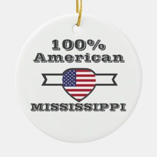 100% American, Mississippi Round Ceramic Decoration