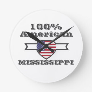 100% American, Mississippi Round Clock