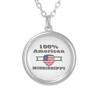100% American, Mississippi Silver Plated Necklace