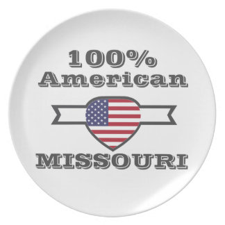 100% American, Missouri Party Plate