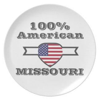 100% American, Missouri Plate