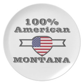 100% American, Montana Party Plates