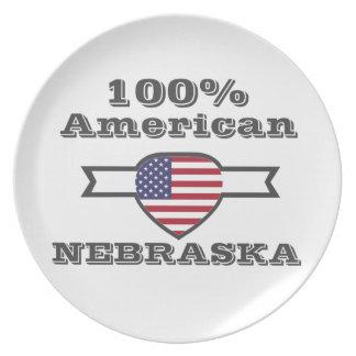 100% American, Nebraska Plate