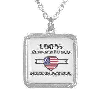 100% American, Nebraska Silver Plated Necklace
