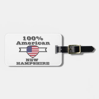 100% American, New Hampshire Luggage Tag