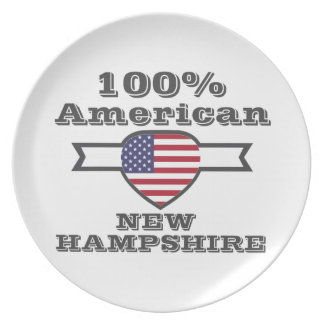 100% American, New Hampshire Plate
