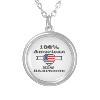 100% American, New Hampshire Silver Plated Necklace