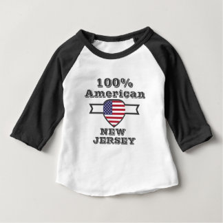 100% American, New Jersey Baby T-Shirt