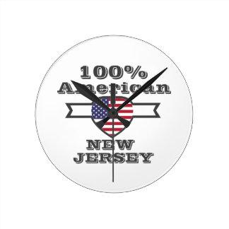 100% American, New Jersey Round Clock