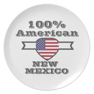 100% American, New Mexico Party Plate