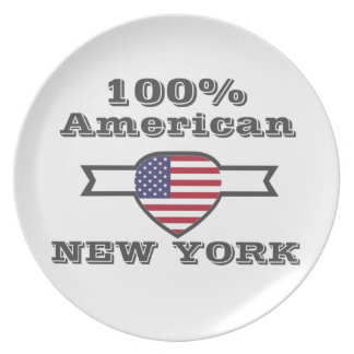 100% American, New York Plate
