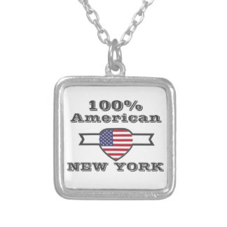 100% American, New York Silver Plated Necklace