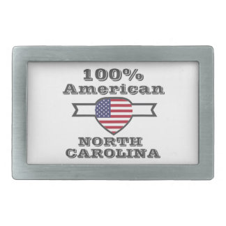 100% American, North Carolina Belt Buckle