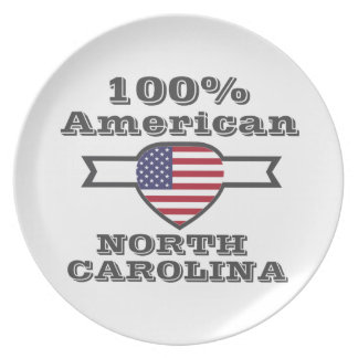 100% American, North Carolina Plate