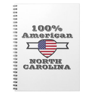 100% American, North Carolina Spiral Notebook