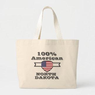 100% American, North Dakota Large Tote Bag
