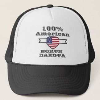 100% American, North Dakota Trucker Hat