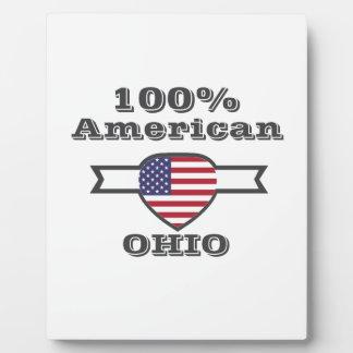 100% American, Ohio Plaque