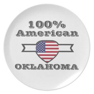 100% American, Oklahoma Dinner Plate