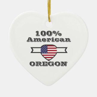 100% American, Oregon Ceramic Ornament