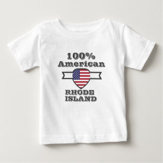 100% American, Rhode Island Baby T-Shirt