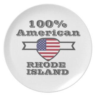 100% American, Rhode Island Plate