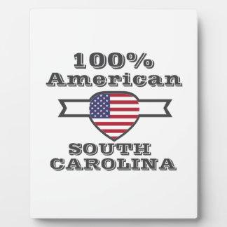 100% American, South Carolina Plaque