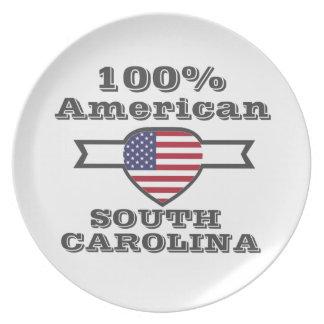 100% American, South Carolina Plate