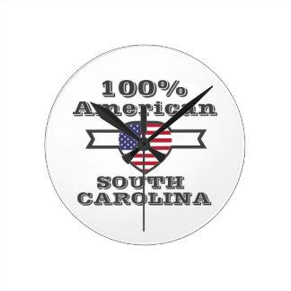 100% American, South Carolina Wallclocks