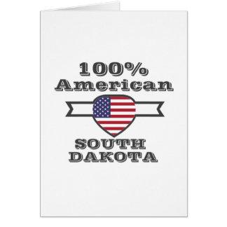100% American, South Dakota Card