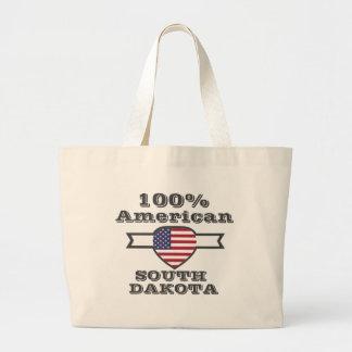 100% American, South Dakota Large Tote Bag