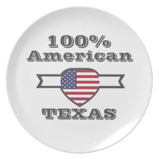 100% American, Texas Party Plate
