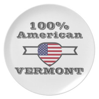 100% American, Vermont Party Plates