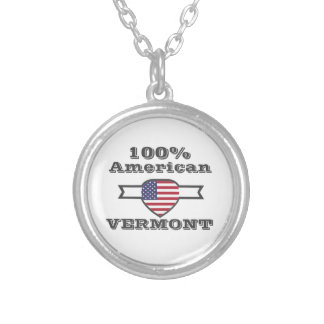 100% American, Vermont Silver Plated Necklace