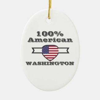 100% American, Washington Ceramic Ornament