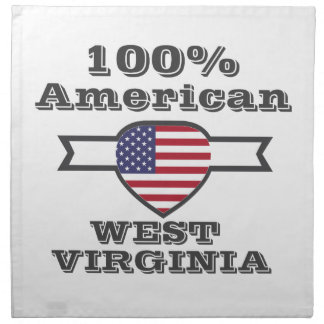 100% American, West Virginia Napkin