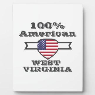 100% American, West Virginia Plaque
