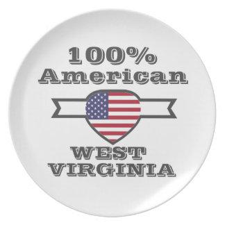 100% American, West Virginia Plate
