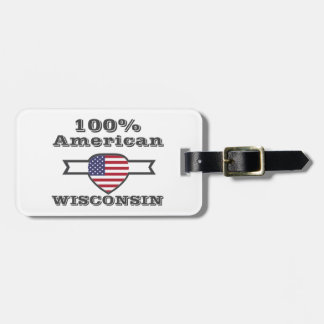 100% American, Wisconsin Luggage Tag