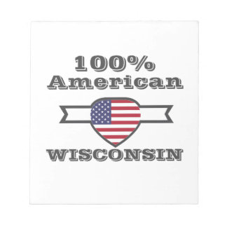 100% American, Wisconsin Notepad