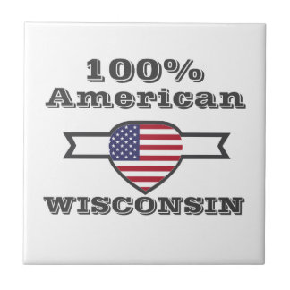 100% American, Wisconsin Small Square Tile
