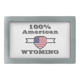 100% American, Wyoming Belt Buckle