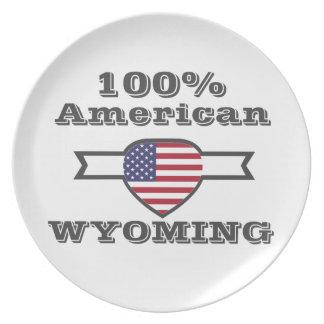 100% American, Wyoming Plate