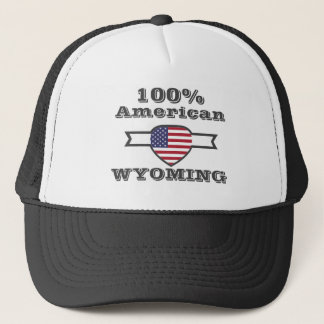 100% American, Wyoming Trucker Hat