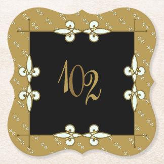 100+ Anniversary/Birthday Vintage Art Deco Paper Coaster