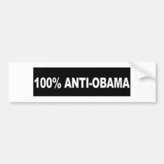 100% Anti-Obama Bumper Sticker
