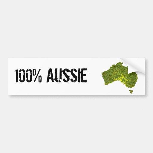 100% Aussie Bumper Sticker