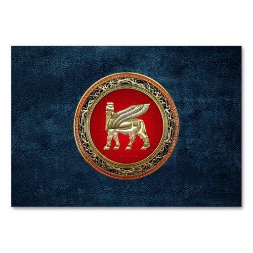[100] Babylonian Winged Bull Lamassu [3D] Table Card